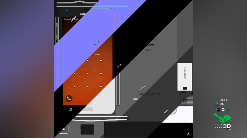 """Galaxy Note 4"" Smartphone Prop Model - Texture Sheet"