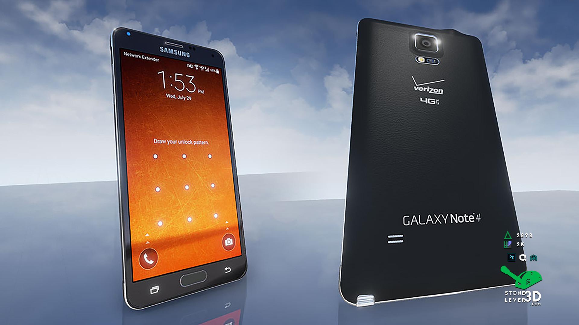 """Galaxy Note 4"" Smartphone Prop Model - UE4 Render"