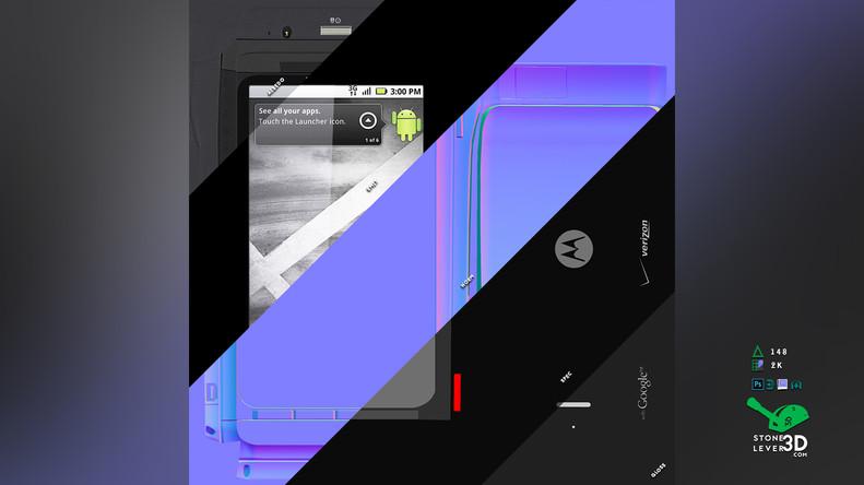 """Droid X"" Smartphone Prop Model - Texture Sheet"
