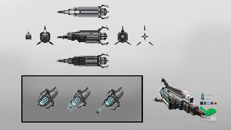 """Dream Gun"" Weapon Prop Model - Concept Sketch"