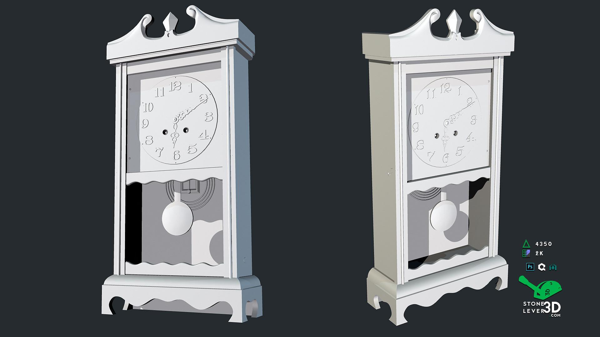 """Wall Clock"" Prop Model - High Poly"