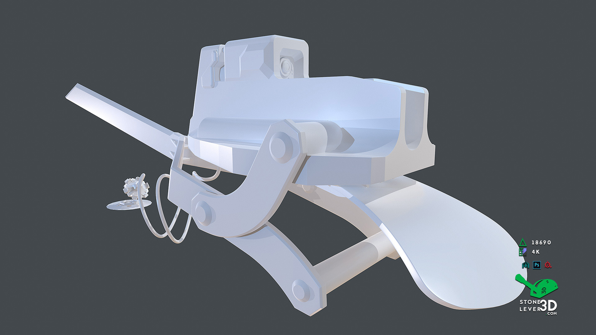 """Bio-Interface Tactical Platform AB-101X"" - Weapon Concept Prop Model - High Poly"