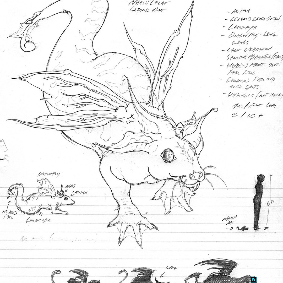"""Greater Bog Rat"" Creature Concept"