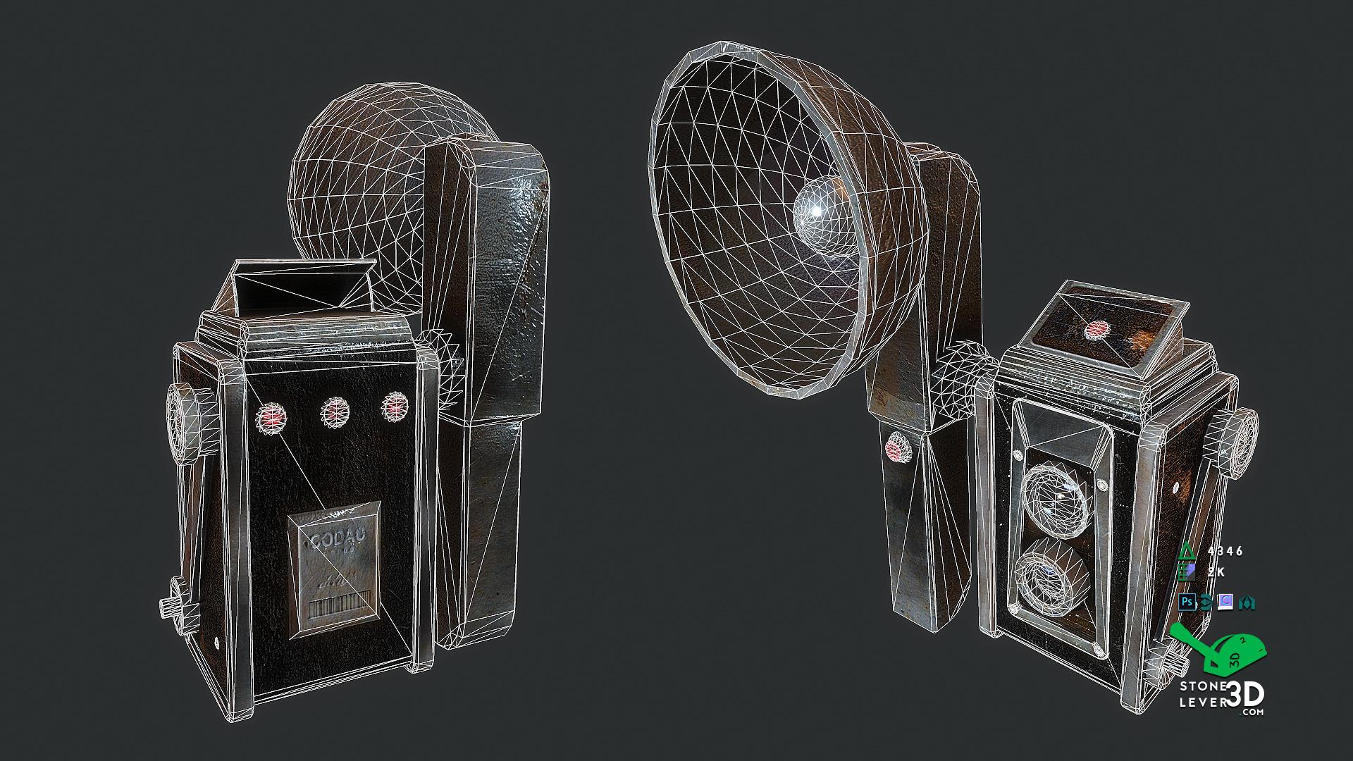 """Codac-R9000"" Prop Model Replica - Wireframe"