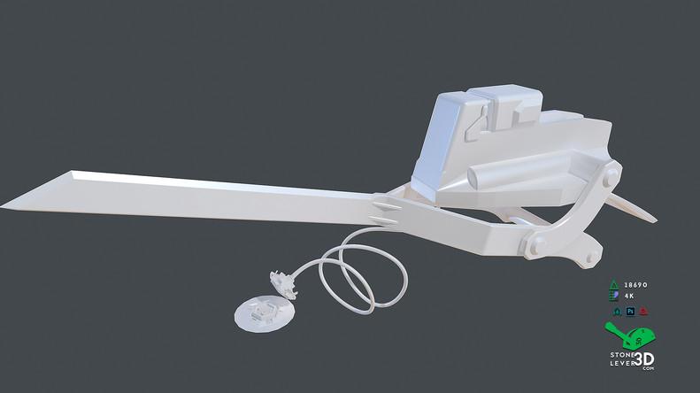 """Bio-Interface Tactical Platform AB-101X"" - Weapon Concept Prop Model - High Poly"