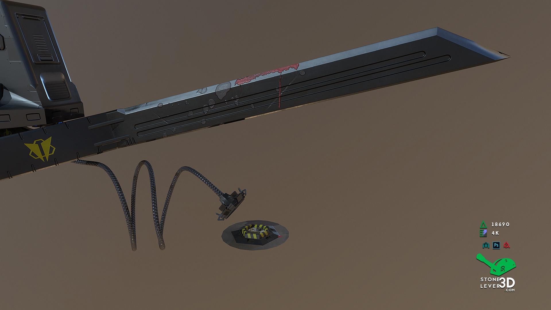 """""""Bio-Interface Tactical Platform AB-101X"""" - Weapon Concept Prop Model"""