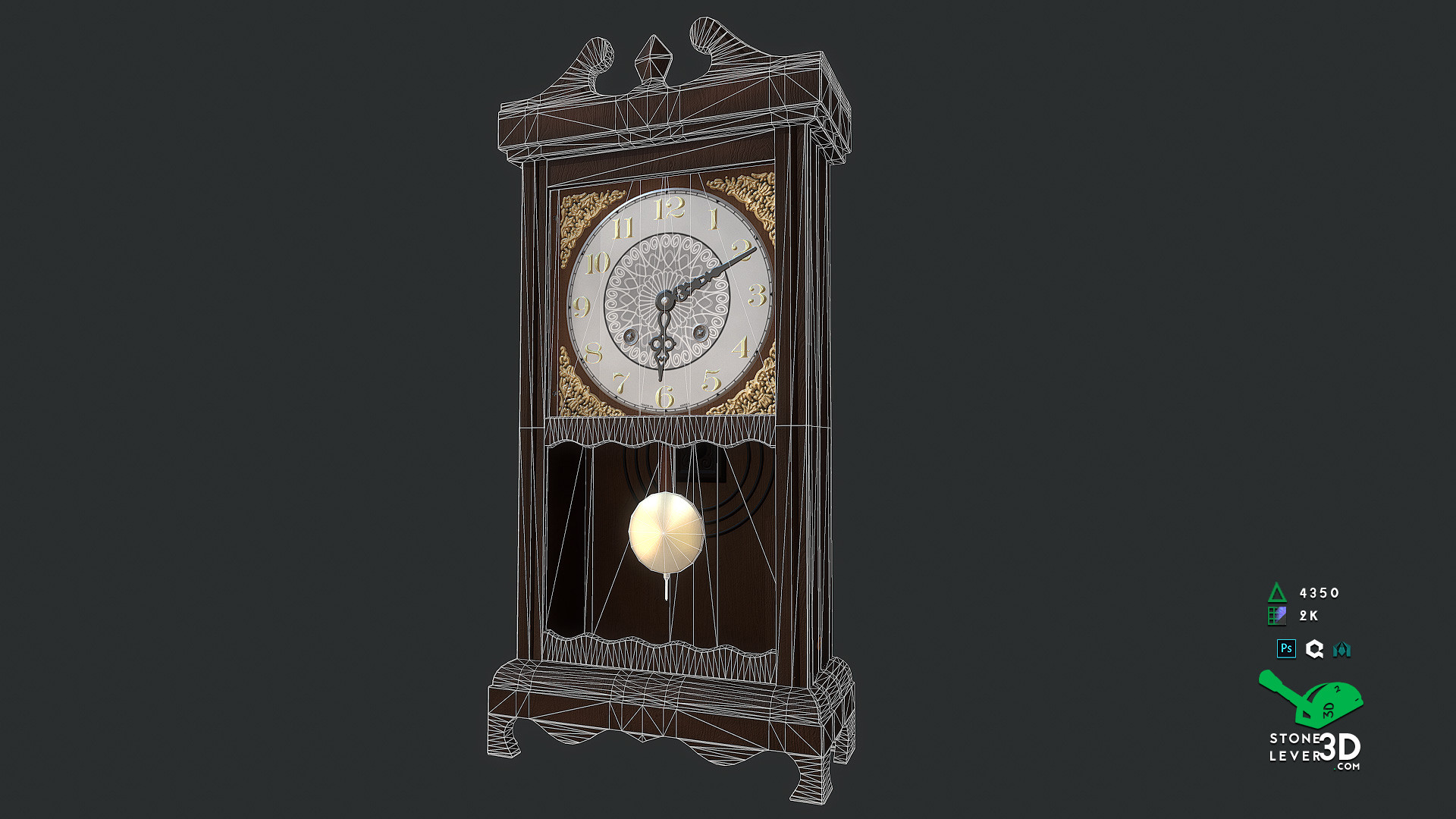 """""""Wall Clock"""" Prop Model - Wireframe"""