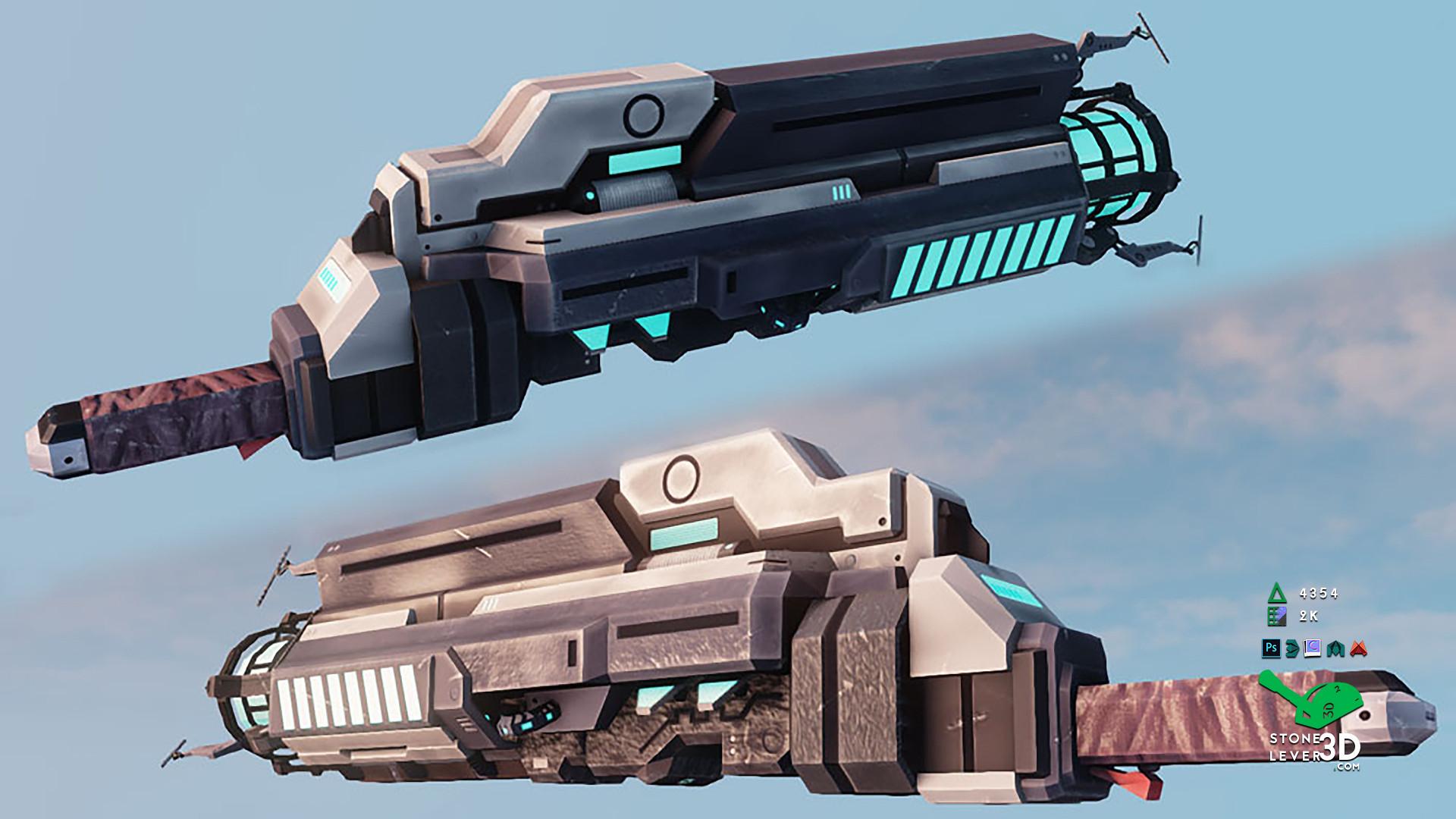 """""""Dream Gun"""" Weapon Prop Model - UE4 Render"""