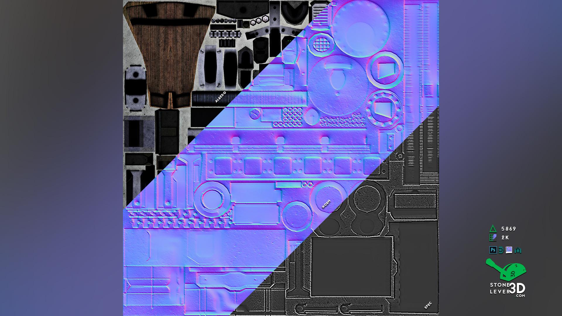 """Railway Rifle"" Weapon Prop Model Replica - Texture Sheet"