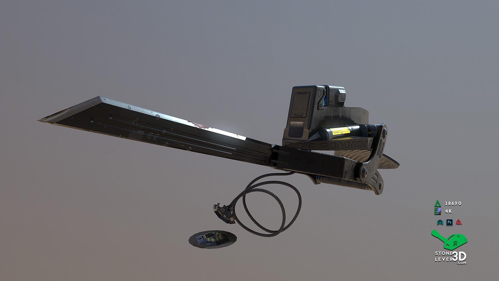 """Bio-Interface Tactical Platform AB-101X"" - Weapon Concept Prop Modelapon Concept Prop Model"