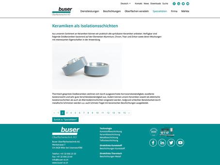 Produktfotografie Buser Oberflächentechnik AG