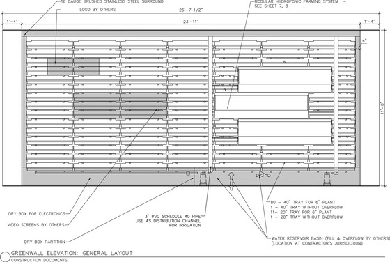 Living Wall Specifications and CAD Details