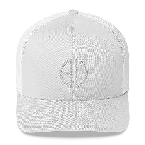 BU White Trucker Cap