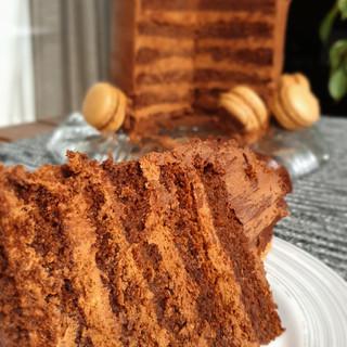 bolo de corte chocolate