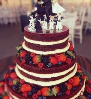 bolo red velvet casamento