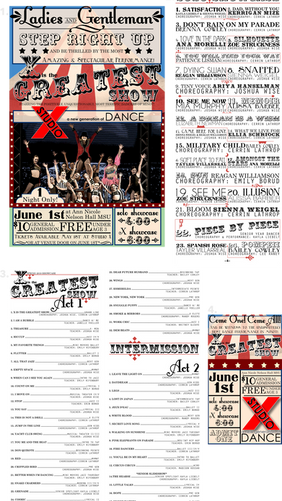 """""""X is the Greatest Show"""" Recital Package"""
