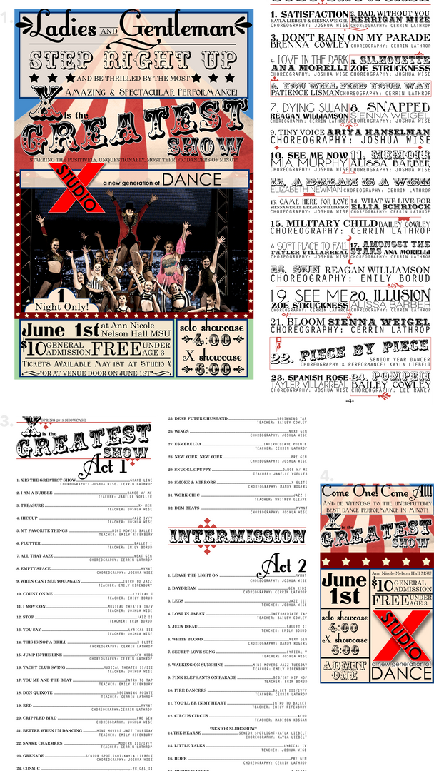 """X is the Greatest Show"" Recital Package"