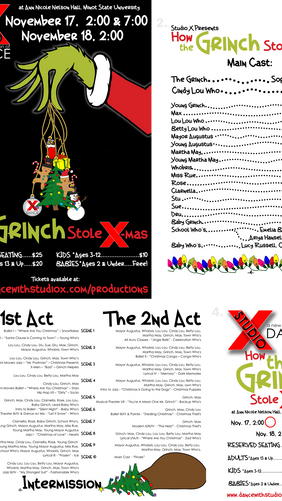 """""""How the Grinch Stole X-Mas"""" Dance Production Package"""