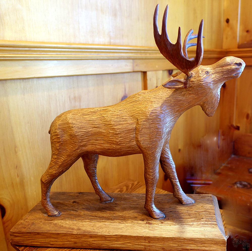 Carved Moose Side