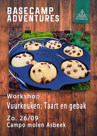 Workshops Vuurkeuken Taart en gebak 26-9