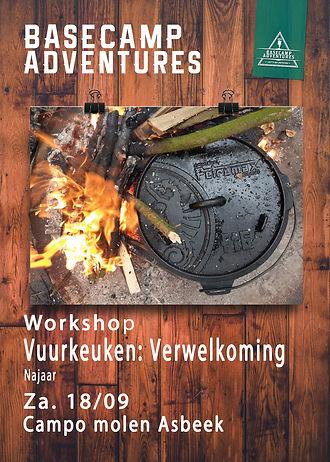 Workshops Vuurkeuken Verwelkoming najaar