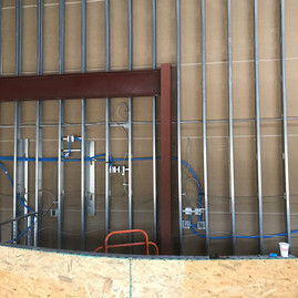 The architecture of the building required several horizontal cable runs. All cabling was protected with ENT tubing.