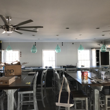 Commercial audio system for Saltwater Grill, Swansboro NC.
