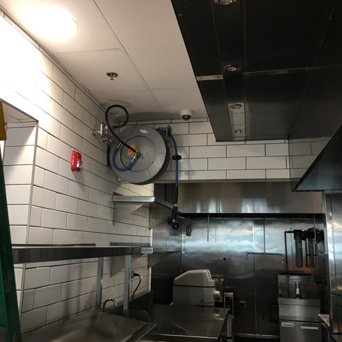 These cameras will keep an eye on the line and exposition areas of the kitchen.