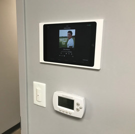 Conference Room iPad install. All functions of the room AV systems can be controlled from here.