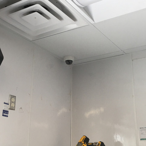 IP cameras are beginning to go in.