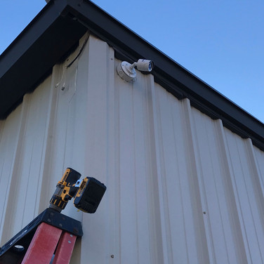Commercial building getting a brand new camera system. We used the old existing wiring and converted the system to HD resolution, saving the customer a ton of money while still giving excellent results!