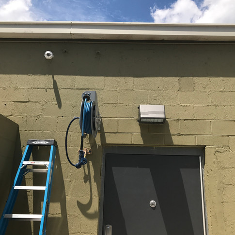 Back kitchen door will be covered by this bullet camera.