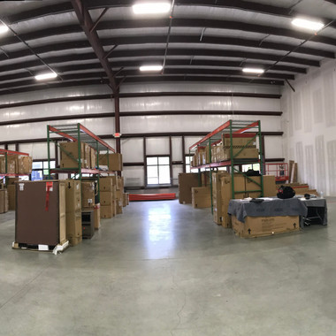 Furniture distribution warehouse receiving a HD camera system.