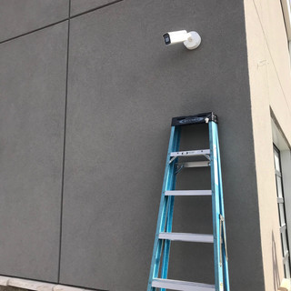 4MP IP bullet cameras going on the exterior of the building. These cameras have motorized zoom and focus features.