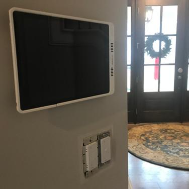 Model home iPad control and Lutron lighting control.