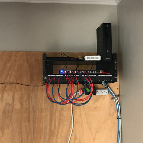 Historic Apex home receives CAT6 network infrastructure for fiber internet service.