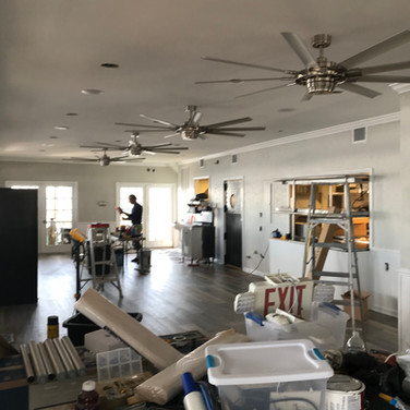 Saltwater Grill revamped dining room with new audio system after being destroyed by Hurricane Florence.