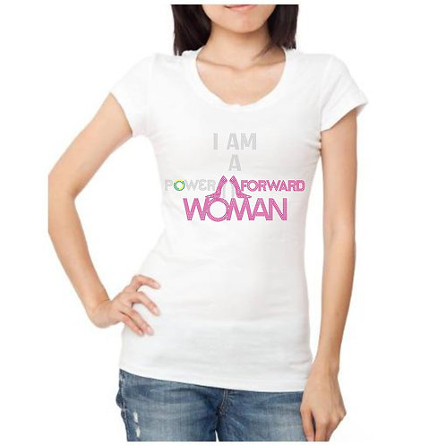 I am a Power Forward Woman Bling Tee