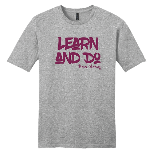 Learn And Do - Gray and Magenta
