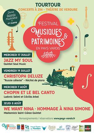PAYS VAROIS TOURTOUR FESTIVAL MUSIQUES & PATRIMOINES