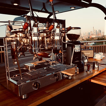 Mobile Kaffeebar Siebträger Hebelmaschin