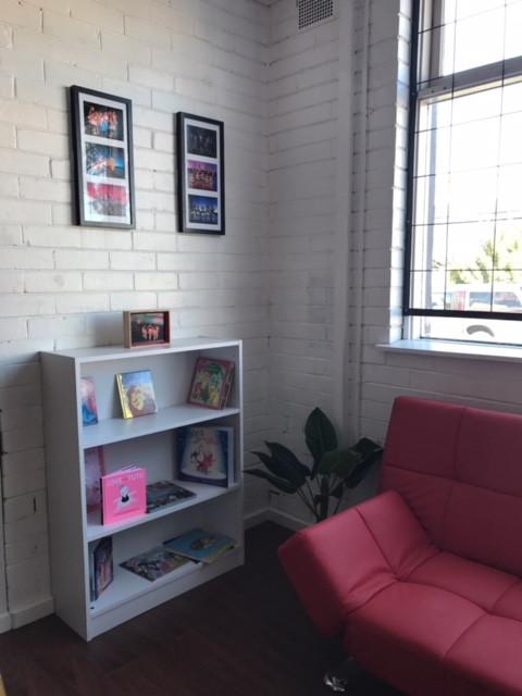 Waiting Area- bookcase