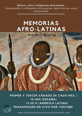 Cartel Memorias Afro-Latinas Marrón nuev