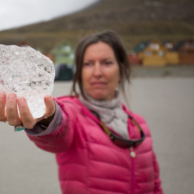 an ancient piece of Nordenskiold glacier ice that I asked for as the captain gave to us when holding our glasses up to this glorious beast. Still frozen after two days in my cabin