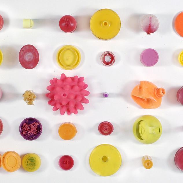 Pink plastic planet