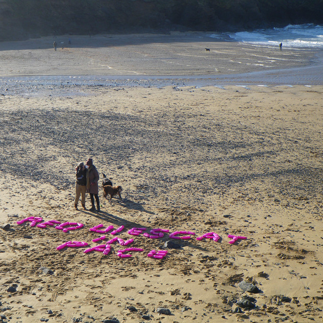 Whenever I return to Poldhu, I still find pink neon micro-plastics along the shorelines...