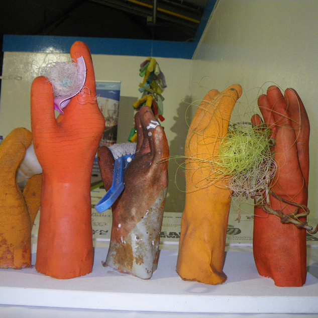 Exhibition.  Awareness about Fishing for Litter initiative at Newlyn Fish Festival. 2009