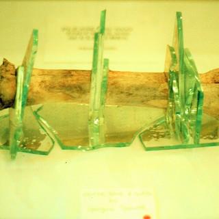 glass and bone sculpture