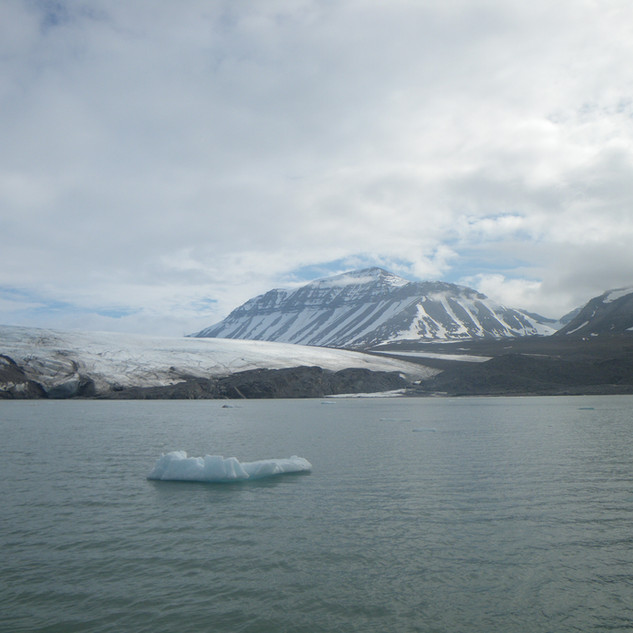 iceburgs float by as they break from the glacier forever