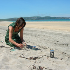 ...continuing to gather the hundreds of objects, honouring her powerful nature